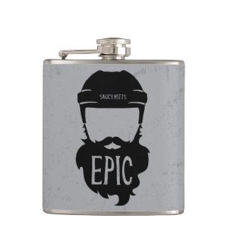 Epic Hockey Playoff Beard Hip Flask