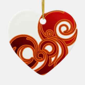 Epic (in red & black) ceramic heart decoration