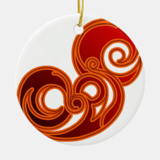 Epic (in red & black) christmas ornament