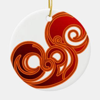 Epic (in red & black) round ceramic decoration