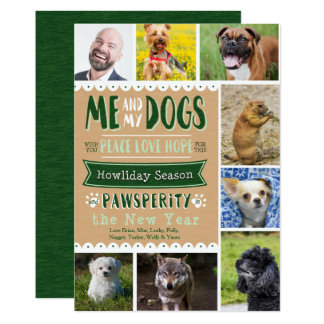 EPIC Me and My Dogs 5x7 Christmas Card (8 Photos)