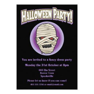Epic Mummy Halloween Invitation