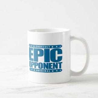 EPIC OPPONENT - Savage Warrior in Love & Business Basic White Mug
