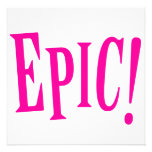 Epic Pink Custom Invitation