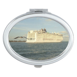 Epic Pursuit - Bird and Cruise Ship Travel Mirrors