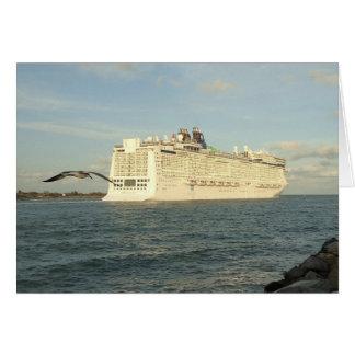 Epic Pursuit - Bird Following Cruise Ship Custom Card