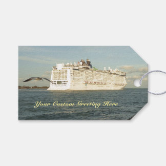 Epic Pursuit - Bird Follows Cruise Ship Custom Gift Tags