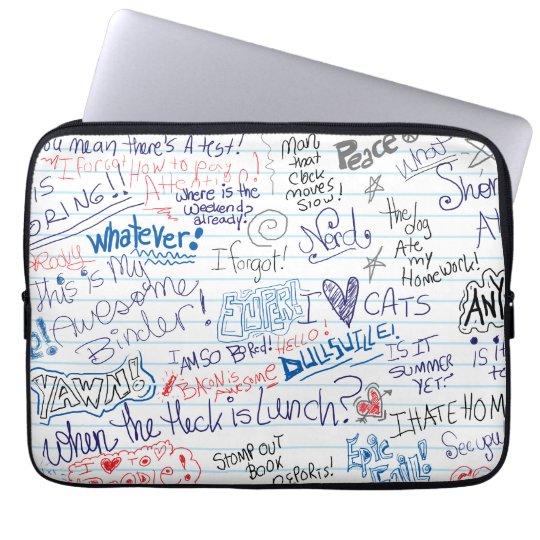 Epic School Doodles Laptop Sleeves