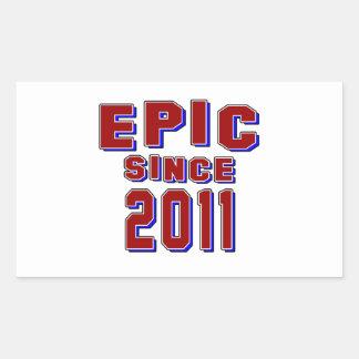 Epic since 2011 rectangular sticker