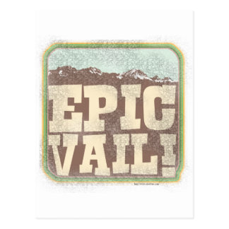 Epic Vail Postcard