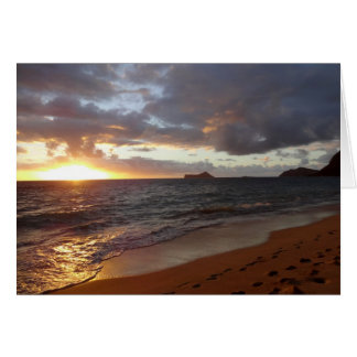 Epic Waimanalo Sunrise Greeting card