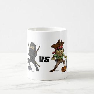 Epic Warrior: Ninja vs Pirate Coffee Mug