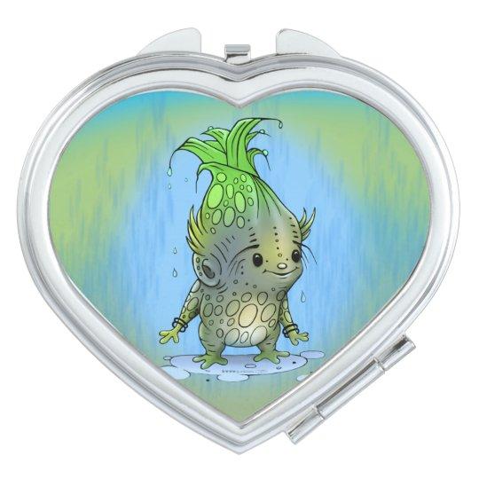 EPICORN ALIEN CARTOON LOVE compact mirror HEART