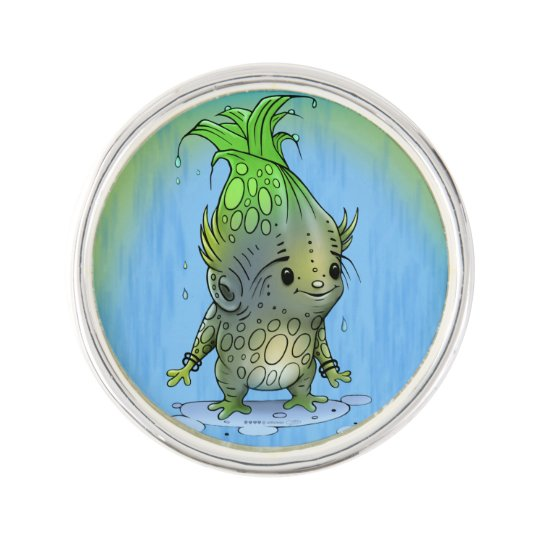 EPICORN ALIEN CARTOON PlanetJill Round Lapel Pin