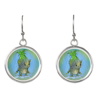 EPICORN ALIEN MONSTER CARTOON Drop Earrings
