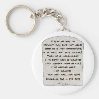 Epicurus - Why call him god? Key Ring
