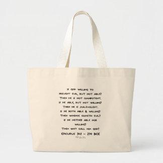 Epicurus - Why call him god? - Plain Jumbo Tote Bag
