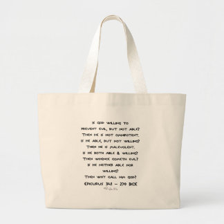 Epicurus - Why call him god? - Plain Large Tote Bag