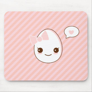 epicute girly egg pink stripes pattern mouse mat