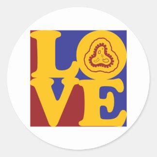 Epidemiology Love Classic Round Sticker