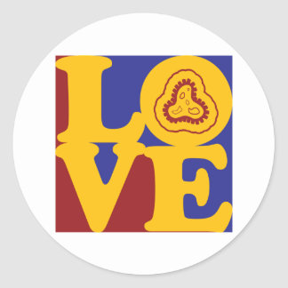 Epidemiology Love Round Sticker