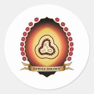 Epidemiology Mandorla Classic Round Sticker