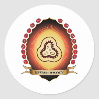 Epidemiology Mandorla Round Sticker