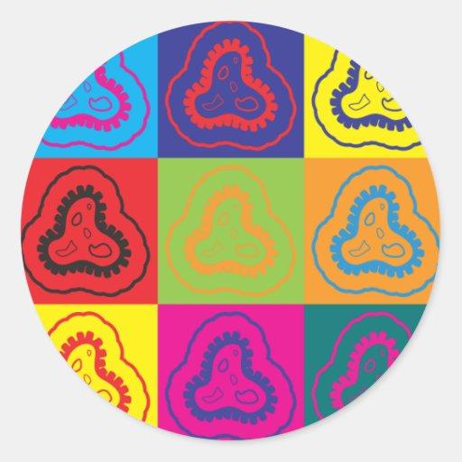 Epidemiology Pop Art Round Stickers