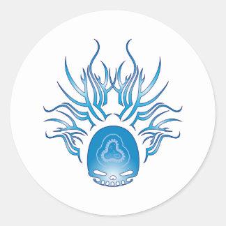 Epidemiology Skull Round Sticker