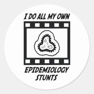 Epidemiology Stunts Round Sticker