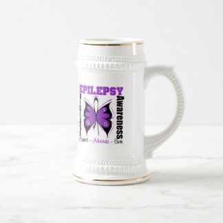 Epilepsy Awareness Butterfly Beer Steins