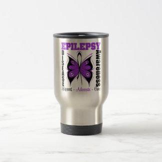 Epilepsy Awareness Butterfly 15 Oz Stainless Steel Travel Mug
