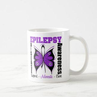 Epilepsy Awareness Butterfly Classic White Coffee Mug