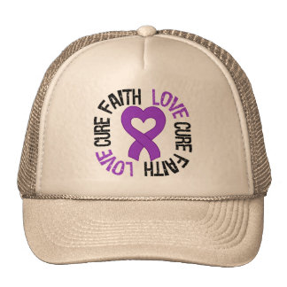 Epilepsy Awareness Faith Love Cure Hats
