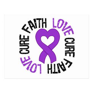 Epilepsy Awareness Faith Love Cure Postcard