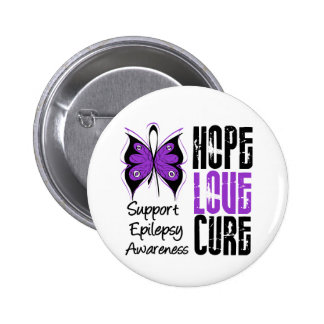 Epilepsy Awareness Hope Love Cure 6 Cm Round Badge