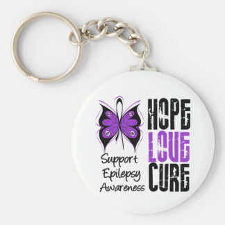 Epilepsy Awareness Hope Love Cure Basic Round Button Key Ring