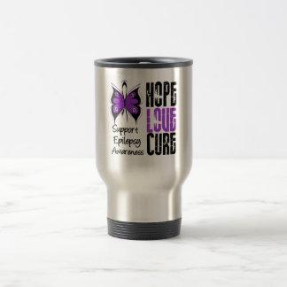 Epilepsy Awareness Hope Love Cure 15 Oz Stainless Steel Travel Mug