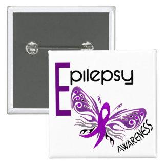 Epilepsy BUTTERFLY 3 Pinback Buttons