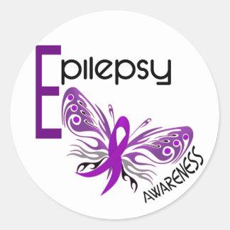 Epilepsy BUTTERFLY 3 Classic Round Sticker