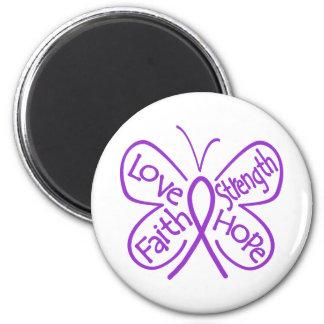 Epilepsy Butterfly Inspiring Words 6 Cm Round Magnet
