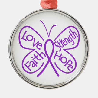 Epilepsy Butterfly Inspiring Words Silver-Colored Round Decoration