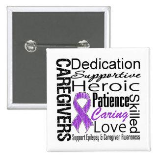 Epilepsy Caregivers Collage 15 Cm Square Badge