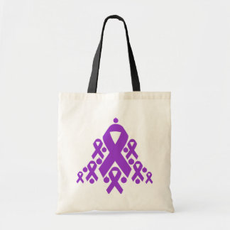 Epilepsy Christmas Ribbon Tree Canvas Bags