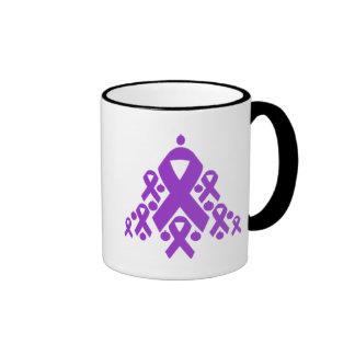 Epilepsy Christmas Ribbon Tree Coffee Mug