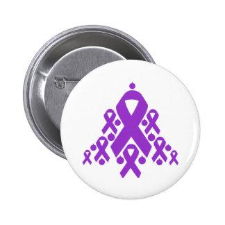 Epilepsy Christmas Ribbon Tree Pin