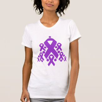 Epilepsy Christmas Ribbon Tree T-shirt
