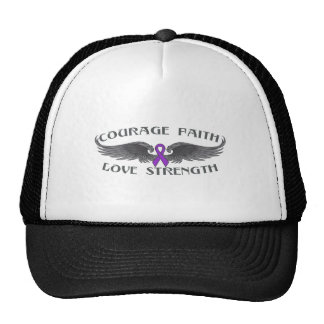 Epilepsy Courage Faith Wings Cap