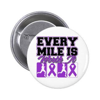 Epilepsy Every Mile is Worth It 6 Cm Round Badge