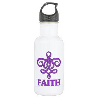 Epilepsy Faith Fleur de Lis Ribbon 532 Ml Water Bottle